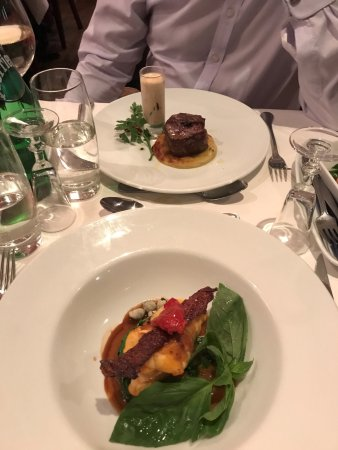 Bel Canto Restaurant: Fillet of beef and monk fish
