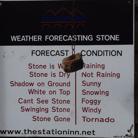 The Station Inn: The amusing weather forecasting stone