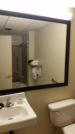 Bathroom Sinks Tucson bathroom, no shelf to place your stuff! - picture of best western