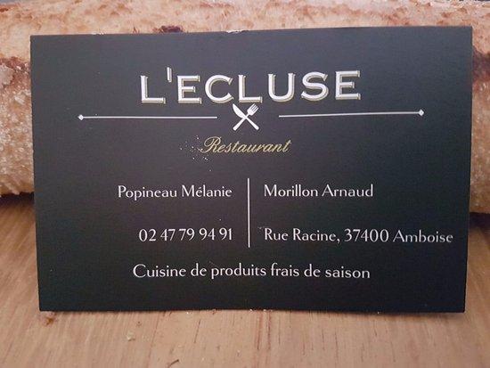 L Ecluse, Amboise - Restaurant Avis, Numéro de Téléphone   Photos ... c20e3a347c1f