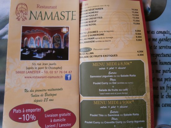 Namast 1 Photo De Restaurant Namaste Lanester