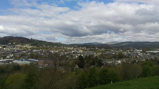 Kendal, UK: The view from the Castle