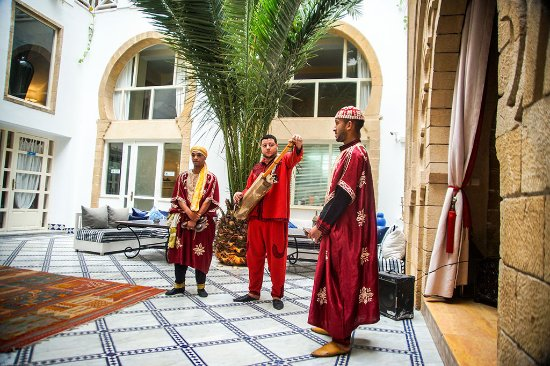 Gnawa Performers at a Riad Dar L'Oussia Dinner