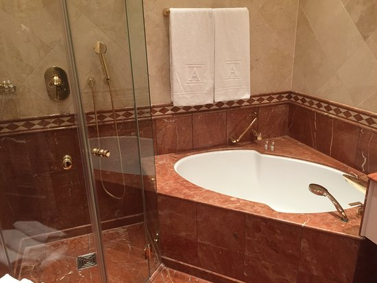 Althoff Grandhotel Schloss Bensberg: Nice bathtub and seperate shower