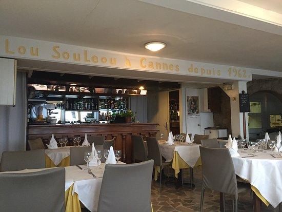 Lou souleou cannes restaurant avis num ro de t l phone for Meilleur resto cannes