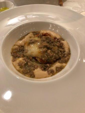 Bistrot De Venise: Lasaña y fideos con pez