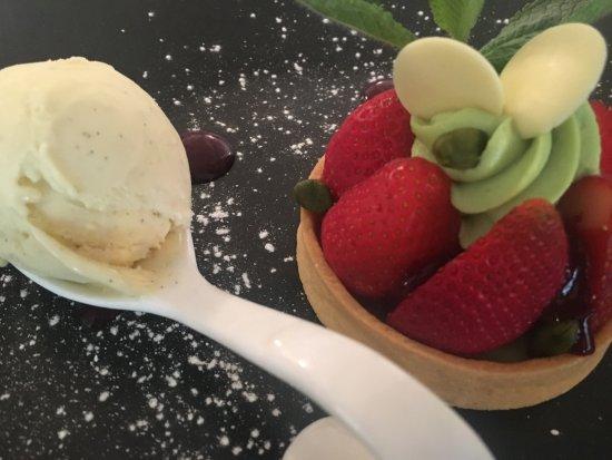 La Plancha : Tartelette fraises-pistache