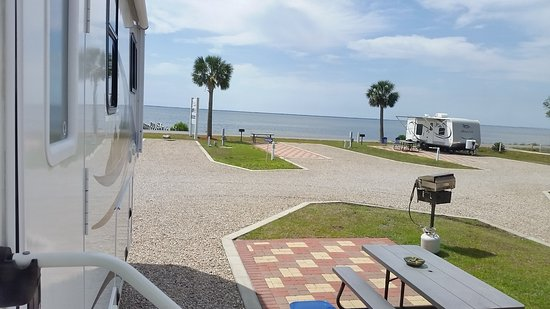 Eastpoint, FL: View from our RV