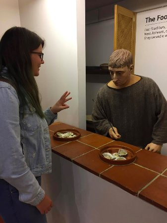 Canterbury Roman Museum: Posing with the displays can provide endless amusement.