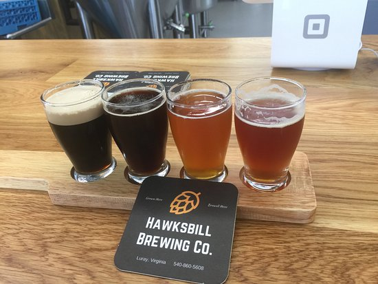 Luray, VA: beer flight