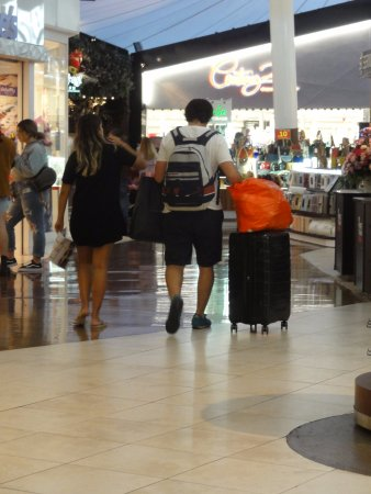 Sawgrass Mills : You see people with luggage everywhere