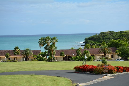 The Buccaneer St Croix : view from street over ocean front rooms