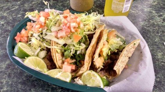 Tacos Carne Asada Very Good Picture Of La Carniceria Mexicana