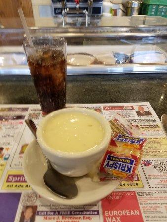 Pine Brook, NJ: cream of turkey soup.
