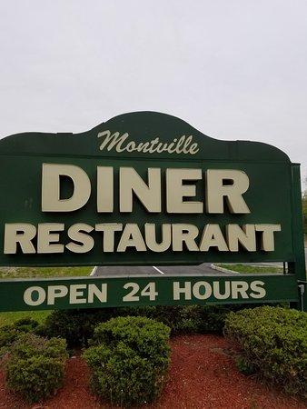 Pine Brook, نيو جيرسي: diner sign.