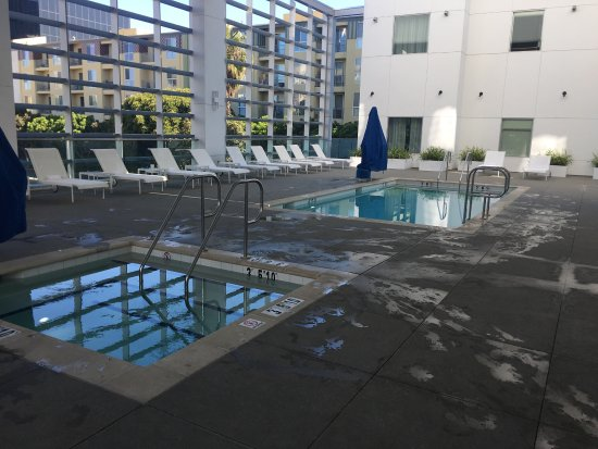 Pool And Fire Pit On Second Floor Picture Of Hampton Inn
