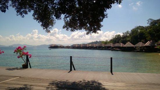 Gayana Eco Resort: View of overwater villas