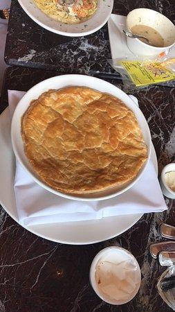 Our delicious pre-trip lunch at Grand Lux Cafe-Galleria Dallas