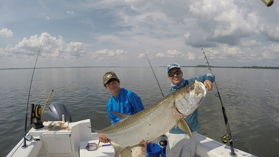 Giant tarpon picture of outcast sport fishing hilton for Outcast sport fishing