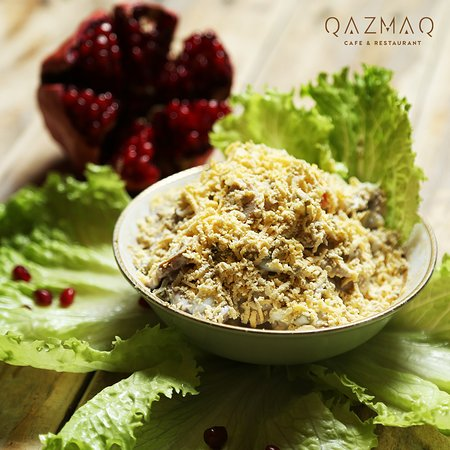 Azerbaijan cuisine salad picture of qazmaq cafe for Azerbaijan cuisine