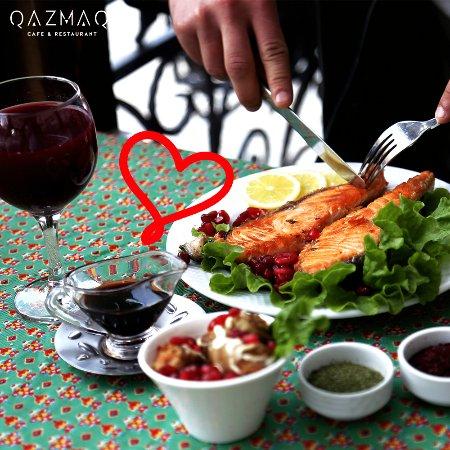 Azerbaijan cuisine fish kabab picture of qazmaq cafe for Azerbaijan cuisine