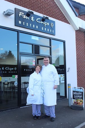 Fish and Chips at Weston Grove: Richard and Josette Foster