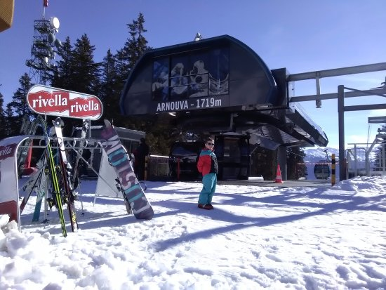 Crans-Montana: Just outside Arnouva Ski Lift