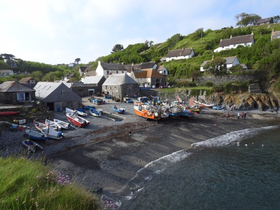 Cadgwith, UK: cove shore