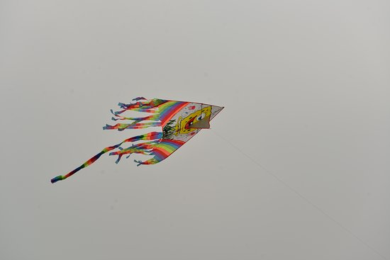 Wushan Square: Kite flying is common activity around the Square
