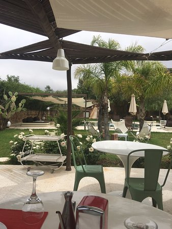 Domaine Malika: Lunch time dining area