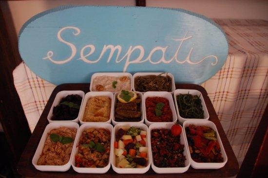 Sempati Turkish Cuisine : mezeler cold appetizers