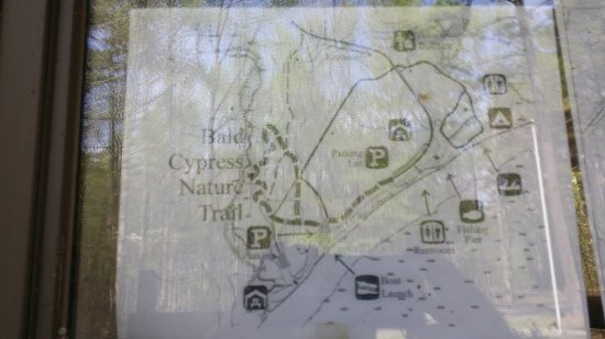 Pocomoke River State Park: trail map - no handouts available