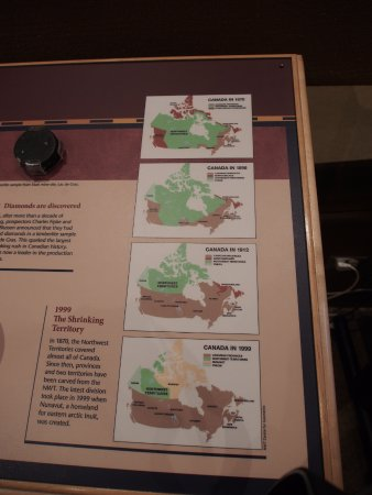 Prince of Wales Northern Heritage Centre: Evolution of territories in Canada over time