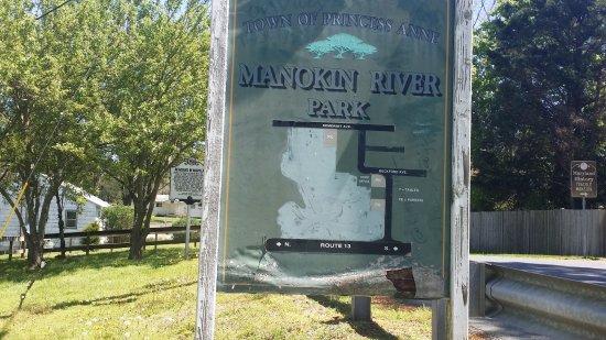 Manokin River Park: park map