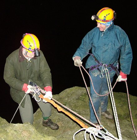 Kendal, UK: Night abseiling in the Lake District with Key Adventures