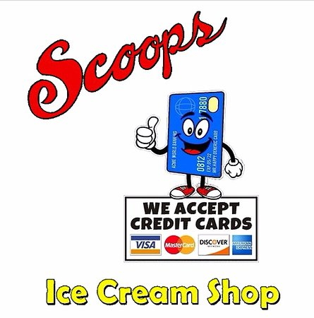 Jim Thorpe, PA: Scoops accepts cash & credit cards.