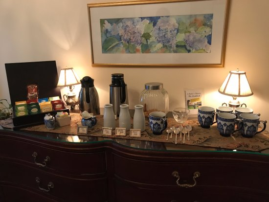 A Butler's Manor: Morning coffee service -- not pictured: that day's newspaper carefully displayed.