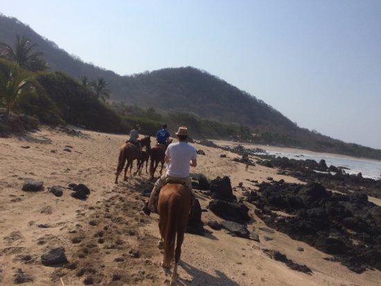 Casa Viva Troncones: taking a horse back ride