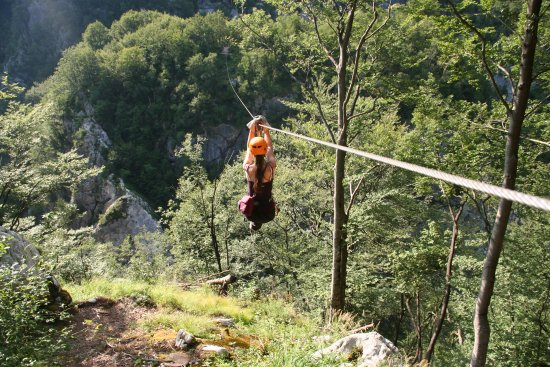 Soca Rafting : Zipline Učja