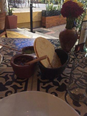 Apoala: Tortillas and salsas