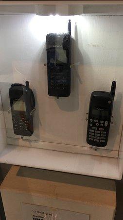 Milton Keynes Museum: Old mobile phones