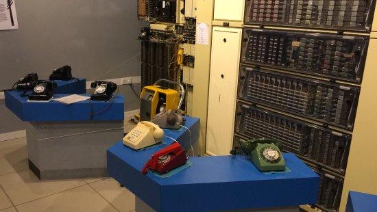 Milton Keynes Museum: Old working phones and telephone exchange
