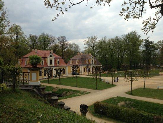 Neschwitz, Duitsland: Blick in den Park