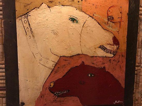 2 Dog art