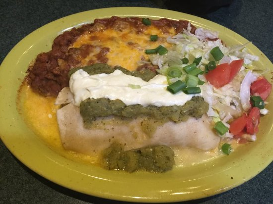 Avondale, AZ: Shrimp enchilada with tomatillo sauce
