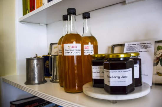 Crook, UK: Some of the home-grown, home-made produce at Dowfold House Bed and Breakfast