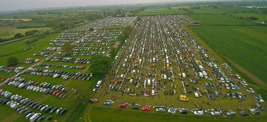 Stoney Stanton, UK : Arial view of Croft Car Boot