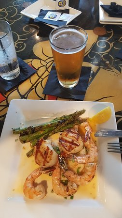 Luke Wholey's Wild Alaskan Grille: Shrimp and scallops in buerre blanc sauce