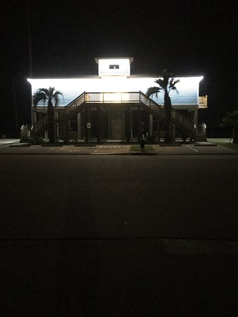 Galveston Island, TX: Bath houses at night