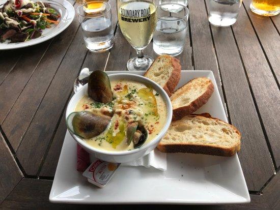 Pohara, Nueva Zelanda: Green lip mussel chowder